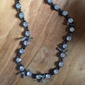 JCrew Rhinestone/Ribbon Necklace
